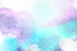 藍色絢麗夢幻背景圖