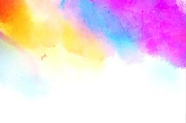 創意藍色水墨水彩高清背景圖