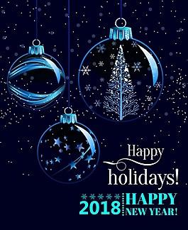 2018年庆祝新年海报素材