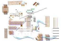 小品平面图素材--建筑物家具人
