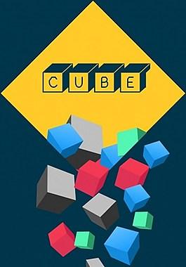彩色立体正方形背景图