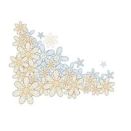 簡約花朵花瓣元素