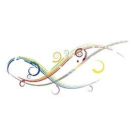 手繪彩色流線元素