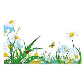手繪清新花朵元素
