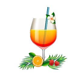 手繪水果果汁元素