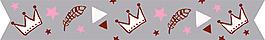 卡通皇冠羽毛矢量設計VI花型