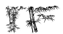 中國風竹子水墨元素