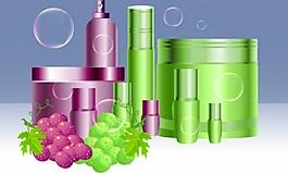 水果葡萄系列護膚品背景圖
