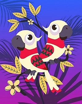 漂亮红色鹦鹉背景图