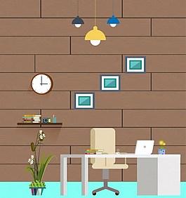 创意简约办公室背景图