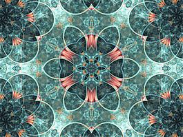 网状花朵背景图