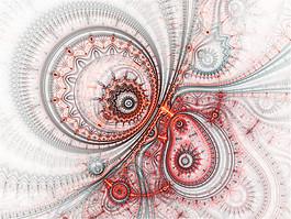 彩色漩涡科技背景图