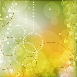 綠色陽光花紋背景