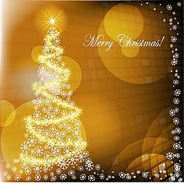 圣诞元素雪花边框设计