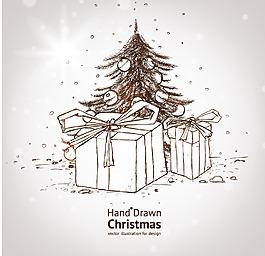 禮物盒子樹木素材