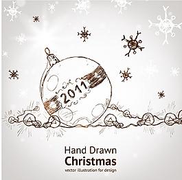 线稿圣诞装饰素材设计