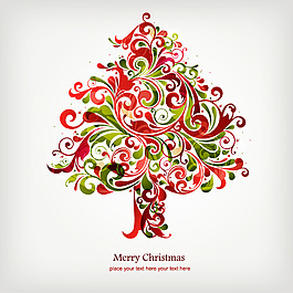 抽象圣誕樹木設計