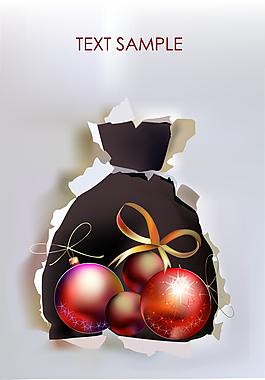 圣诞袋子装饰背景