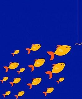 黃色魚矢量圖
