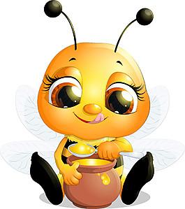 吃蜂蜜的蜜蜂圖片