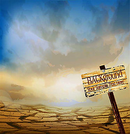 沙漠上的路牌圖片