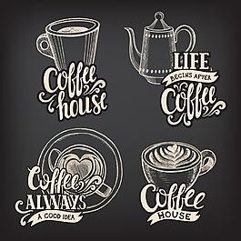 手绘咖啡图标