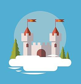 卡通城堡建筑