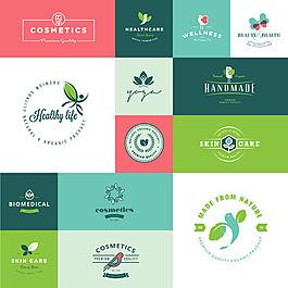 清新綠色植物商標