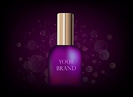 紫色瓶子护肤品背景图