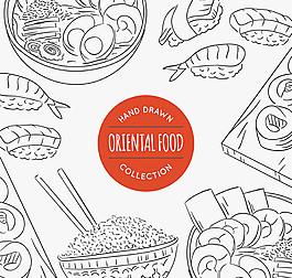 手繪食物插畫矢量素材
