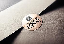 LOGO标志贴纸样机