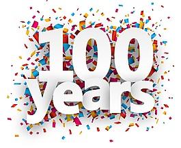 100周年庆生日祝贺矢量素材