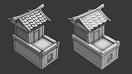 花架房模型房屋模型MAX