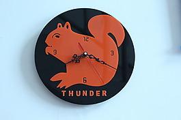 激光切割設計圖——松鼠時鐘