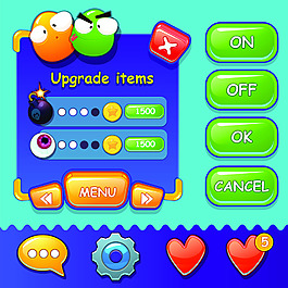手游初始界面设计UI设计EPS矢量