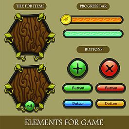樹紋手游界面設計UI設計EPS矢量