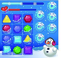 雪人消消乐手游界面设计UI设计EPS矢量