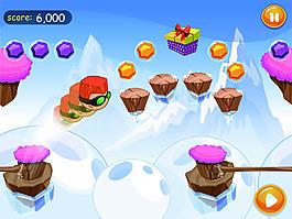 雪山跑酷手游界面設計UI設計EPS矢量
