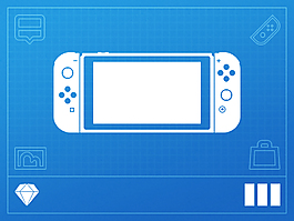 Nintendo任天堂Switch游戲機UIKitSketch素材