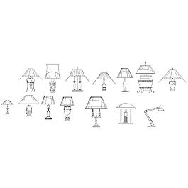 臺燈CAD圖紙