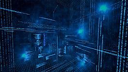 立體空間電子科技背景