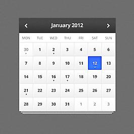 網頁手機日歷設計