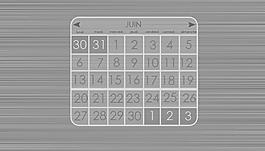 木紋灰色透明日歷部件設計