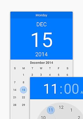 安卓手機日歷及日歷部件設計素材