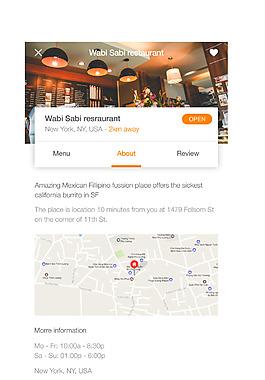 網頁手機APP餐飲詳情界面