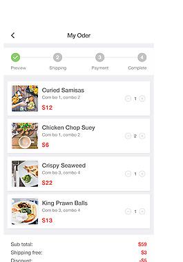 網頁餐飲APP結賬訂單界面