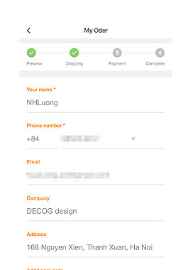 手機APP餐飲外賣填寫信息界面設計素材