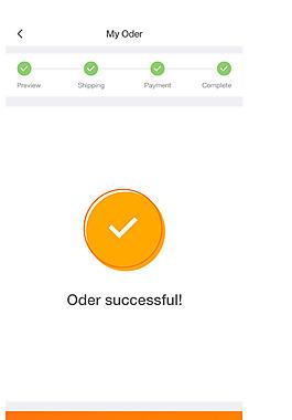 手機APP餐飲訂單完成界面設計