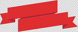 打折促銷紅色飄帶免摳png透明圖層素材