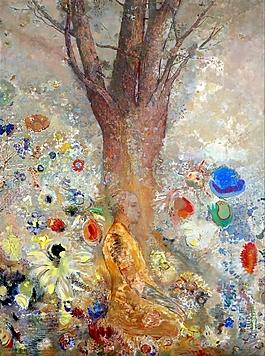 树下僧人装饰画